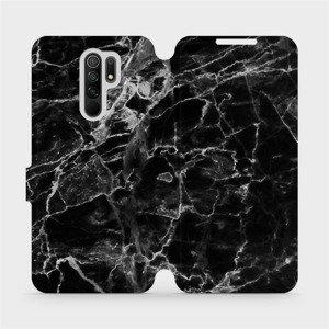 Flipové pouzdro Mobiwear na mobil Xiaomi Redmi 9 - V056P Černý mramor