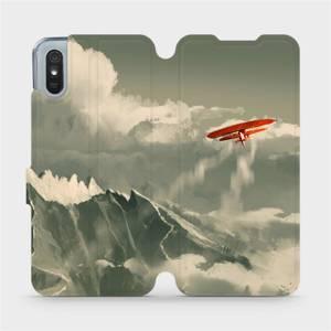 Flipové pouzdro Mobiwear na mobil Xiaomi Redmi 9A - MA03P Oranžové letadlo v horách