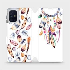 Flipové pouzdro Mobiwear na mobil Samsung Galaxy M31s - M003S Lapač a barevná pírka