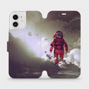 Flipové pouzdro Mobiwear na mobil Apple iPhone 12 - MA07S Týpek ve skafandru