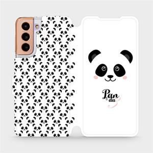 Flipové pouzdro Mobiwear na mobil Samsung Galaxy S21 5G - M030P Panda Amálka