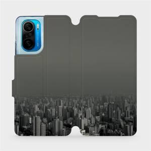 Flipové pouzdro Mobiwear na mobil Xiaomi Mi 11i / Xiaomi Poco F3 - V063P Město v šedém hávu