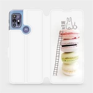 Flipové pouzdro Mobiwear na mobil Motorola Moto G30 - M090P Makronky - have a nice day