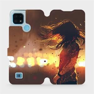 Flip pouzdro Mobiwear na mobil Realme C21 - MA02S Tetovaná dívka