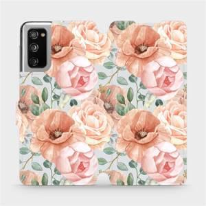 Flip pouzdro Mobiwear na mobil Samsung Galaxy S20 FE - MP02S Pastelové květy