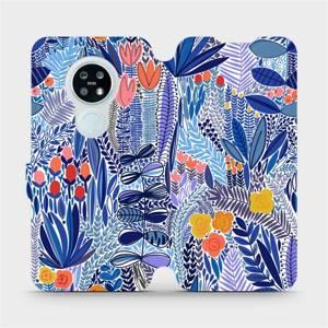 Flip pouzdro Mobiwear na mobil Nokia 6.2 - MP03P Modrá květena