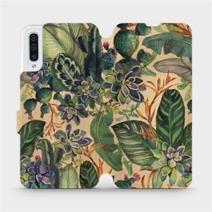 Flip pouzdro Mobiwear na mobil Samsung Galaxy A50 - VP05S Sukulenty