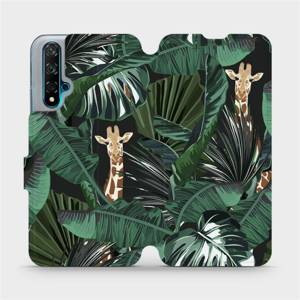 Flip pouzdro Mobiwear na mobil Huawei Nova 5T - VP06P Žirafky