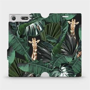 Flip pouzdro Mobiwear na mobil Sony Xperia XZ1 Compact - VP06P Žirafky