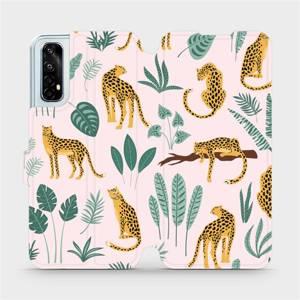 Flip pouzdro Mobiwear na mobil Realme 7 - MP07S Leopardi