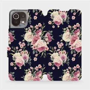 Flip pouzdro Mobiwear na mobil Xiaomi 11 Lite 5G NE - V068P Růžičky