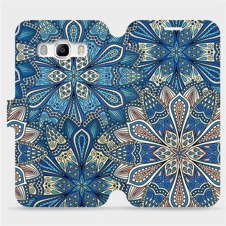 Flipové pouzdro Mobiwear na mobil Samsung Galaxy J5 2016 - V108P Modré mandala květy