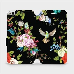 Flipové pouzdro Mobiwear na mobil Huawei P9 Lite 2017 - VD09S Ptáčci a květy