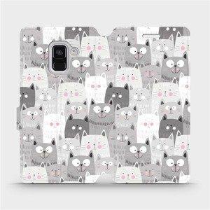 Flipové pouzdro Mobiwear na mobil Samsung Galaxy A8 2018 - M099P Kočičky