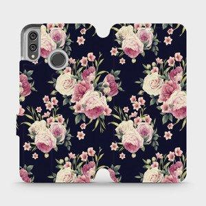 Flipové pouzdro Mobiwear na mobil Honor 8X - V068P Růžičky