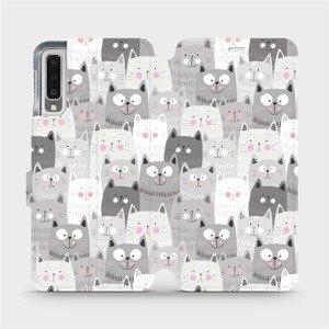 Flipové pouzdro Mobiwear na mobil Samsung Galaxy A7 2018 - M099P Kočičky