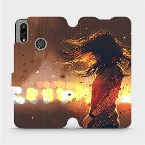 Flipové pouzdro Mobiwear na mobil Huawei P Smart 2019 - MA02S Tetovaná dívka