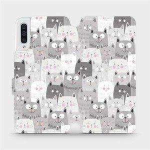 Flipové pouzdro Mobiwear na mobil Samsung Galaxy A50 - M099P Kočičky