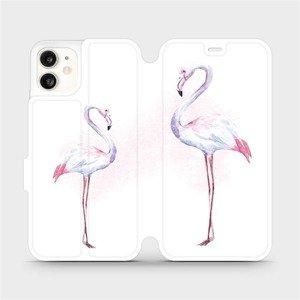 Flipové pouzdro Mobiwear na mobil Apple iPhone 11 - M005S Plameňáci