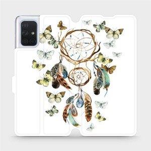 Flipové pouzdro Mobiwear na mobil Samsung Galaxy A71 - M001P Lapač a motýlci