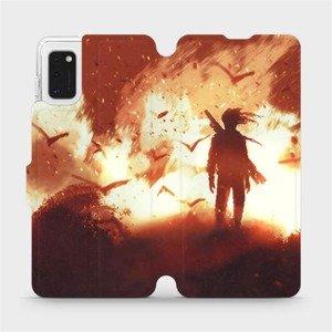 Flipové pouzdro Mobiwear na mobil Samsung Galaxy A41 - MA06S Postava v ohni
