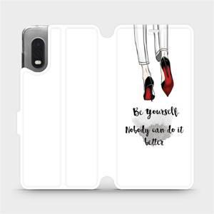 Flipové pouzdro Mobiwear na mobil Samsung Xcover PRO - M046P Be yourself