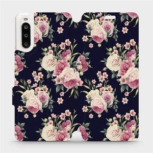 Flipové pouzdro Mobiwear na mobil Sony Xperia 10 II - V068P Růžičky