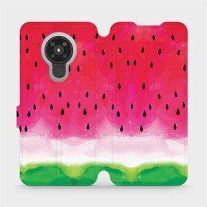 Flipové pouzdro Mobiwear na mobil Nokia 5.3 - V086S Melounek