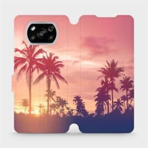 Flipové pouzdro Mobiwear na mobil Xiaomi POCO X3 NFC - M134P Palmy a růžová obloha