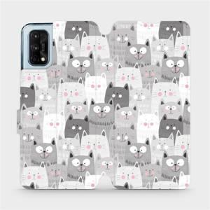 Flipové pouzdro Mobiwear na mobil Realme 7 Pro - M099P Kočičky
