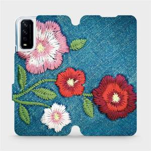 Flipové pouzdro Mobiwear na mobil Vivo Y11S - MD05P Džínové květy