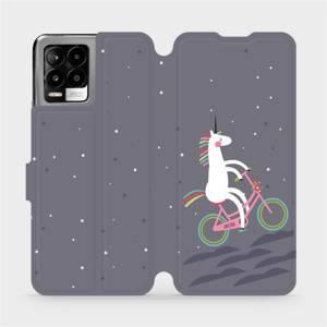 Flip pouzdro Mobiwear na mobil Realme 8 - V024P Jednorožec na kole