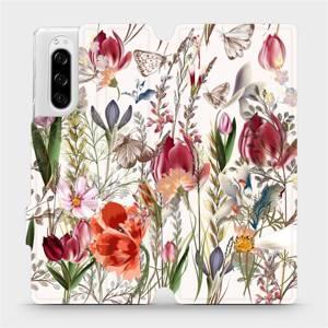 Flip pouzdro Mobiwear na mobil Sony Xperia 5 - MP01S Rozkvetlá louka
