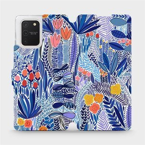 Flip pouzdro Mobiwear na mobil Samsung Galaxy S10 Lite - MP03P Modrá květena