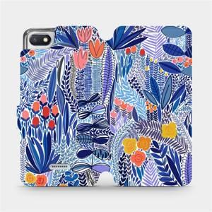 Flip pouzdro Mobiwear na mobil Xiaomi Redmi 6A - MP03P Modrá květena