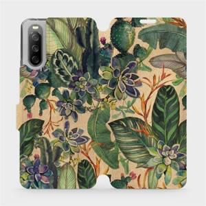 Flip pouzdro Mobiwear na mobil Sony Xperia 10 III - VP05S Sukulenty