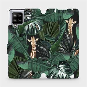 Flip pouzdro Mobiwear na mobil Samsung Galaxy A42 5G - VP06P Žirafky