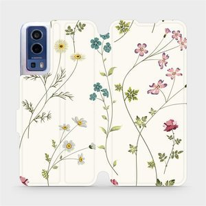 Flip pouzdro Mobiwear na mobil Vivo Y72 5G / Vivo Y52 5G - MD03S Tenké rostlinky s květy