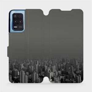 Flip pouzdro Mobiwear na mobil Realme 8 5G - V063P Město v šedém hávu