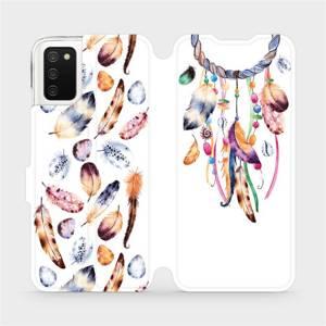 Flip pouzdro Mobiwear na mobil Samsung Galaxy A03s - M003S Lapač a barevná pírka