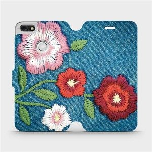 Flipové pouzdro Mobiwear na mobil Huawei P9 Lite mini - MD05P Džínové květy