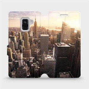 Flipové pouzdro Mobiwear na mobil Samsung Galaxy A8 2018 - M138P New York