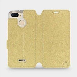 Flipové pouzdro Mobiwear na mobil Xiaomi Redmi 6 v provedení C_GOS Gold&Gray s šedým vnitřkem