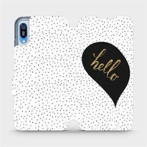 Flipové pouzdro Mobiwear na mobil Huawei Y6 2019 - M013P Golden hello