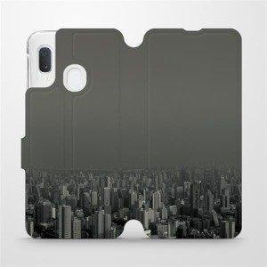 Flipové pouzdro Mobiwear na mobil Samsung Galaxy A20e - V063P Město v šedém hávu