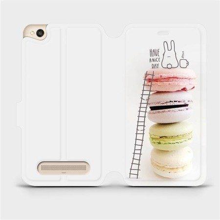 Flipové pouzdro Mobiwear na mobil Xiaomi Redmi 4A - M090P Makronky - have a nice day