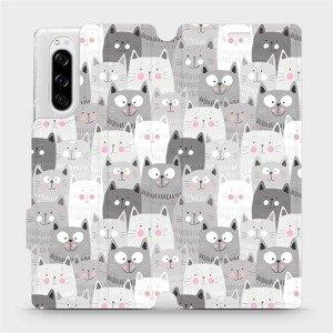 Flipové pouzdro Mobiwear na mobil Sony Xperia 5 - M099P Kočičky