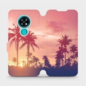 Flipové pouzdro Mobiwear na mobil Nokia 7.2 - M134P Palmy a růžová obloha