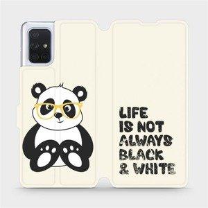 Flipové pouzdro Mobiwear na mobil Samsung Galaxy A71 - M041S Panda - life is not always black and white