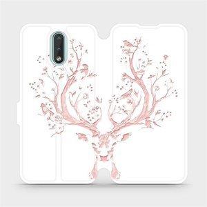 Flipové pouzdro Mobiwear na mobil Nokia 2.3 - M007S Růžový jelínek